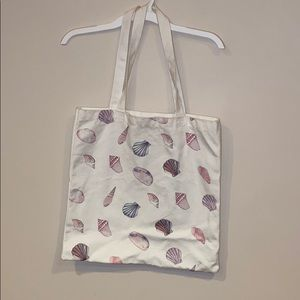 Forever21 Seashell Canvas Tote Bag